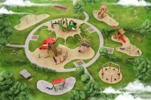 Visualisierung Drachen-Spielpark von der Firma PLAYPARC GmbH