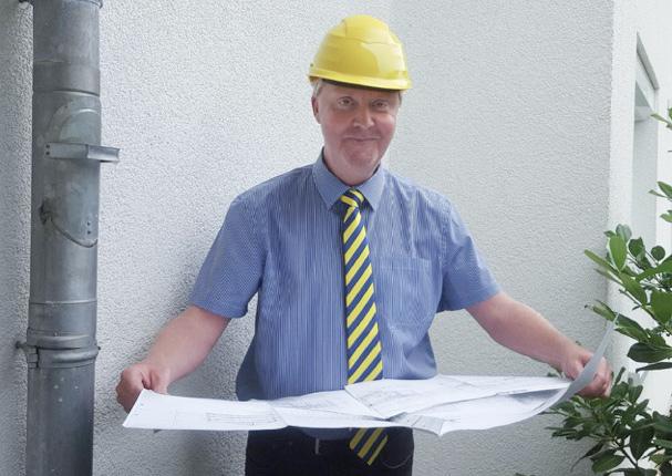 Mit vollem Einsatz dabei: Andreas Gütte ist seit 2000 Baufinanzierungsberater bei der Sparda-Bank Hannover.
