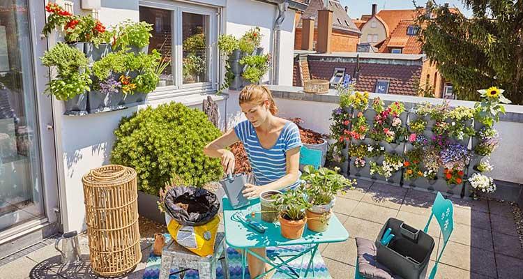 Vertikal Gärtnern auf Dachterrasse